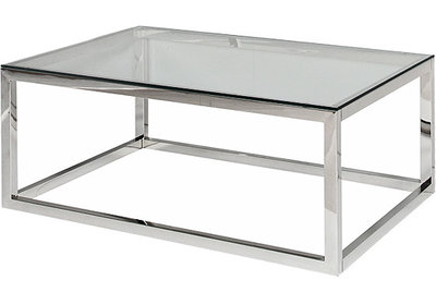 Coffee Table Dover Nickel-Glass Artelore Home