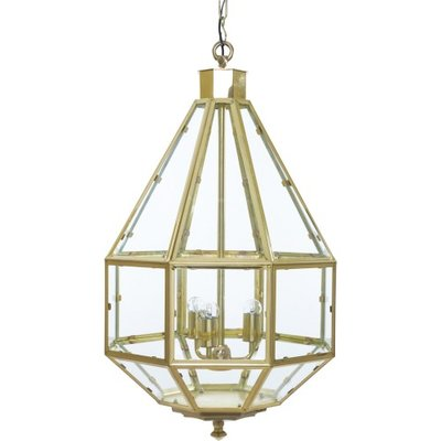 "Vega ""L"" Brass Hanging Lamp Artelore Home"