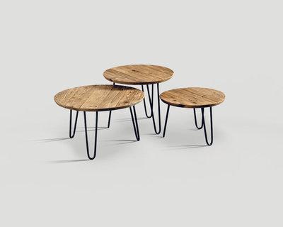 Di Alma Coffee Tables Retro S/3