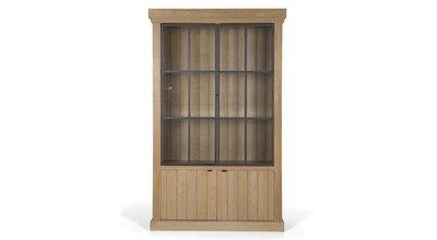 Library Iron Jason Ii 2 Doors Weathered Oak Flamant