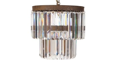 Jessica Double Chandelier  Flamant