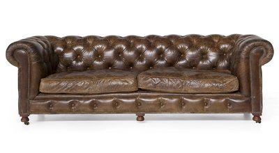 Sofa Edinburgh Vintage Leather - 3-seater Flamant