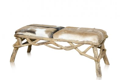 Bench Teak driftwood with Goat