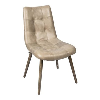 PTMD Chair Charley Creme Leather