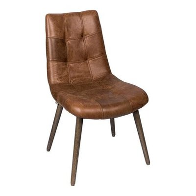 PTMD Chair Charley brown leather