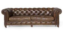 Sofa Edinburgh Vintage Leather - 3-seater Flamant