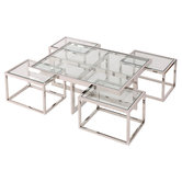 Coffee Table Cruze Nickel Artelore Home