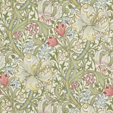 Morris & Co Golden Lily Green/Red 216460