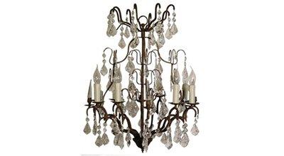 Victoria Antique Rust  Chandelier (8 Candles) Flamant