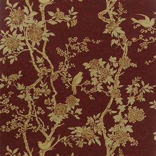 Marlowe Floral Garnet - PRL048/03