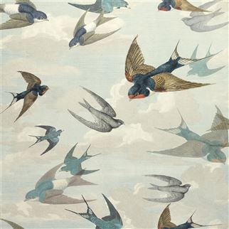 Designers Guild Chimney Swallows Sky Blue