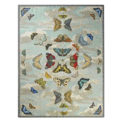 Designers Guild Plaid Mirrored Butterflies Sky BLDG5003