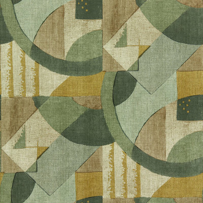 Zoffany Rhombi Abstract 1928 Antique Olivine 312887