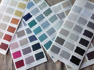 l'Authentique handgeschilderde kleurenkaart
