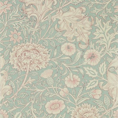 Morris & Co Double Bough 216680 Teal Rose