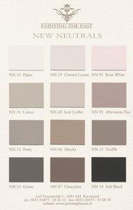 New Neutrals kleurenkaart met 12 handgeschilderde Painting the Past kleuren
