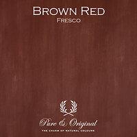 Pure & Original Frescokalkverf Brown Red
