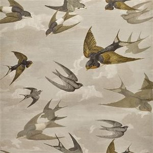 Designers Guild Chimney Swallows Sepia