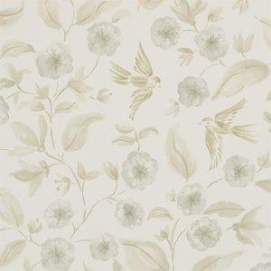 Sanderson Aegean Bird Blossom Ecru Silver 213059