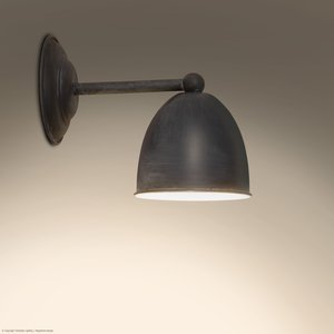 Frezoli wandlamp Conzone Mat zwart L.156.1.600