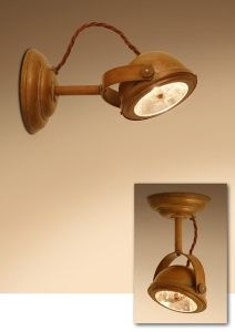 Frezoli wandlamp Lupia Copper L.152.1.100