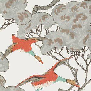 Mulberry Home Flying Ducks Coral Clay FG090.J87