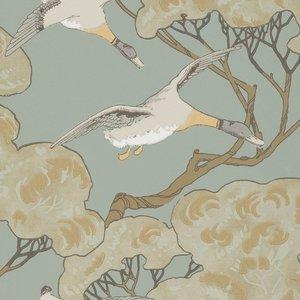 Mulberry Home Flying Ducks Slate Blue FG090.H54
